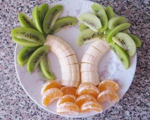 comida+divertida+criança+alimento+culinária+infantil+animada+enfeitada+banana
