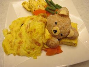 comida+divertida+criança+alimento+culinária+infantil+animada+enfeitada+omelete