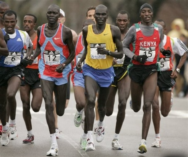 Hailu Negussie, Stephen Biwott, Robert Kipkoech Cheruiyot, Samuel Ndereba