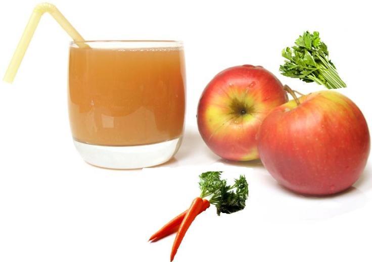 Suco de maça com cenoura cura a ressaca