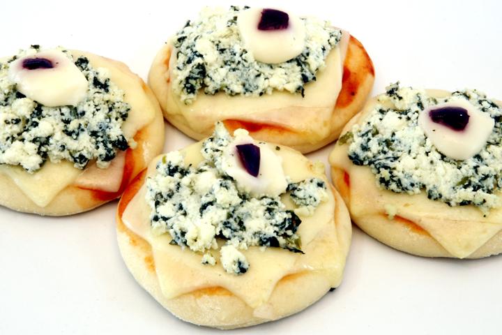 Mini-Pizza-de-Ricota-e-Espinafre